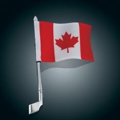 Show Chrome Antenna Flag Pole Mount with Canadian Flag