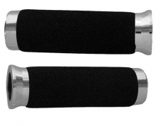 Emgo Foam Grips (Plastic Chrome Cap) – 150mm