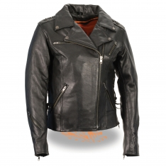 Milwaukee Leather – Women's Lightweight Lace to Lace M/C Jacket
