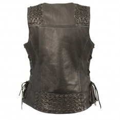 Milwaukee Leather – Women's Lightweight Lace to Lace Snap Front Vest
