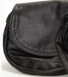 Talisman Leather Hip Pouch Square Black/Plain