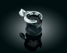 Kuryakyn Mesh Basket Drink Holder for 1″ Bars, Chrome & Black