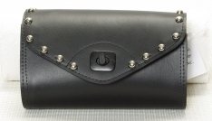 Talisman Leather S221-S-TL Studded Windshield Pouch with Twist Lock