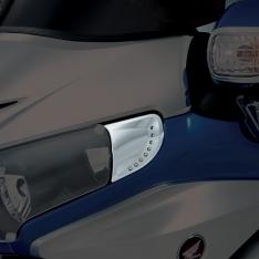 Show Chrome LED Headlight End Trim Honda GL1800 (01 and Newer)