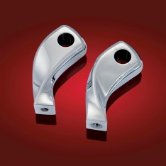 Show Chrome 4in. Twisted Risers