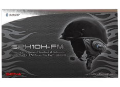 SENA – SPH10H-FM – Bluetooth Headset for Half Helmets